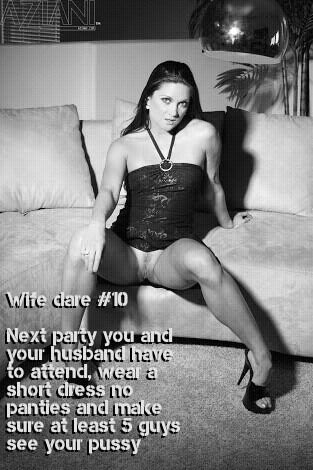 Party wife teasing guests