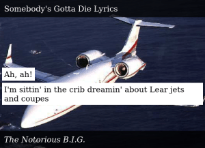 Lear jets and coupes