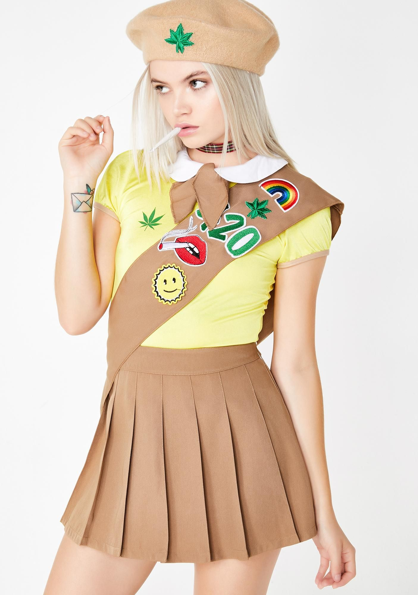 Sexy girl scout halloween costume
